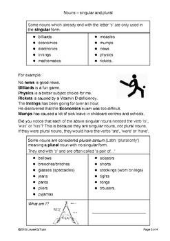 Nouns - singular and plural - English (UK)