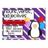 Nouns, verb, adjectives