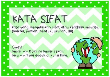 Indonesian - Nouns, verbs, adjectives - kata benda, kata kerja, kata sifat