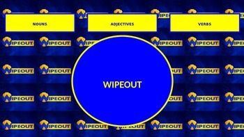 Nouns, verbs and adjectives quiz - Wipeout!