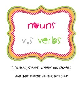 Nouns v.s Verb Sort and Posters