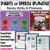 Nouns, Verbs, and Pronouns PowerPoint: Parts of Speech Bundle