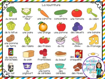 Nourriture:  3 Food Themed Vocabulary Games in French