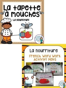 Nourriture:  Food Themed Vocabulary BUNDLE in French