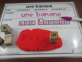 Nourriture:   Food Themed Word Work Activity Mats in French