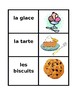 Nourriture (Food in French) Vocabulary Concentration games