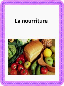 French: Nourriture: fruits, légumes, céréales, viandes Cartes éclairs, PRIMAIRE