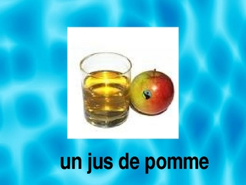 Nourritures et boissons (Food and Drinks in French) power point