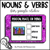 Nouns & Verbs for Google Slides | Distance Learning