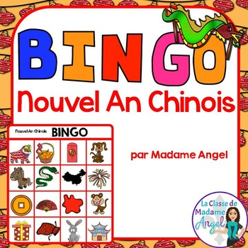 Nouvel An Chinois:  Chinese New Year Themed Bingo Game in French