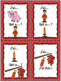 "Nouvel An Chinois - Jeu ""j'ai qui a...?"" - French Chinese New Year"