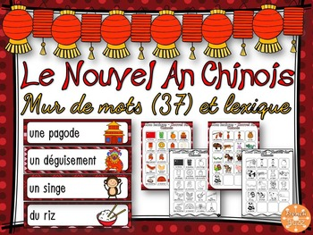Nouvel An Chinois - mur de mots et lexique - French Chinese New Year