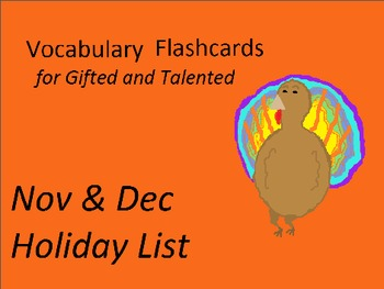 Nov Dec Flashcards
