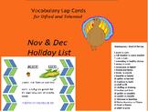 Nov Dec Vocabulary Lap Cards