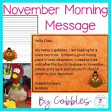 Thanksgiving Morning Message - Works for Traditional and D