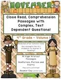 November 4th (V.1) Common Core Close Read with Complex Tex