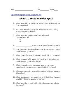 Nova Cancer Warrior Video Quiz