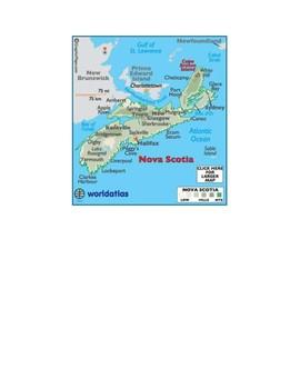 Nova Scotia Map Scavenger Hunt