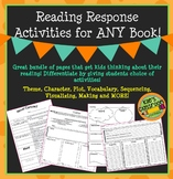 Reading Response Activities for Any Book Theme, Character, Plot, Vocab, & More!
