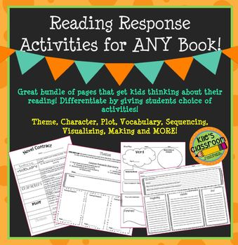 Reading Response Activities for Any Book Theme, Character,