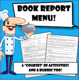 Book Report Menu! (with rubric) Before, During, & After reading