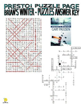 Novel : Brian's Winter Puzzle Page (Wordsearch and Criss-Cross)