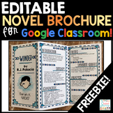 Novel Brochure Google Classroom Freebie