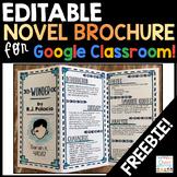 Novel Brochure Google Classroom Freebie