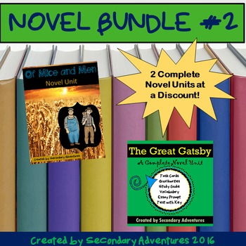 Novel Bundle #2 {Of Mice and Men & The Great Gatsby}
