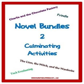 Novel Bundles (2) Culminating Activities