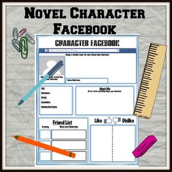 Novel Character Facebook Activity