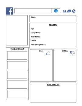 Character Facebook Profile