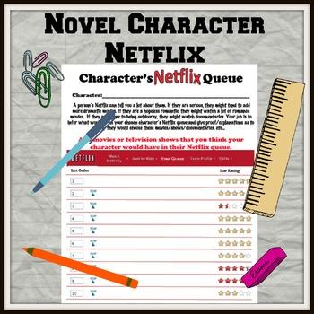 Novel Character Netflix Queue