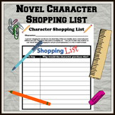 Novel Character Shopping List