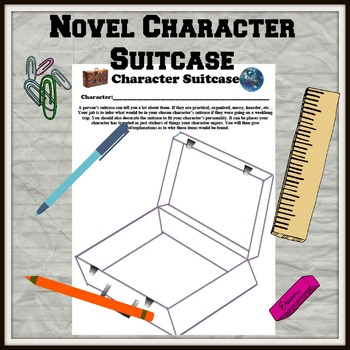 Novel Character Suitcase Packing