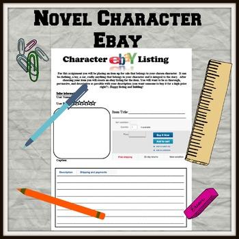 Novel Character eBay Listing