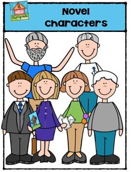 Novel Characters {P4 Clips Trioriginals Digital Clip Art}