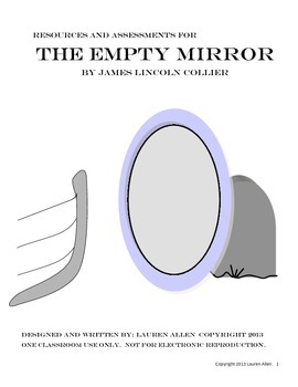 """Novel Companion for """"The Empty Mirror""""  by James Collier unit"""