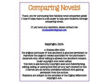 Novel Comparison Organizer