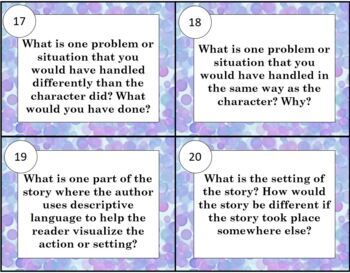 Book Discussion Questions for any Fiction Text