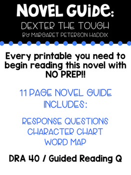 Novel Guide: Dexter the Tough