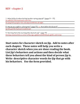 Novel Guide for Jip, His Story, written by Katherine Paterson