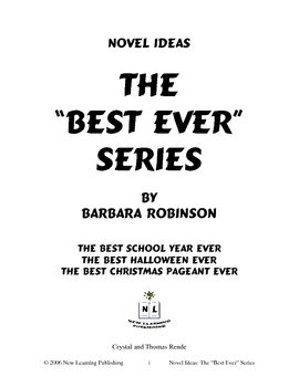 Novel Ideas: Barbara Robinson's Best Ever Series