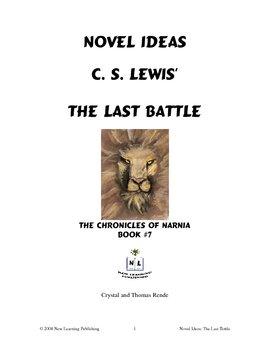 Novel Ideas: C. S. Lewis' The Last Battle