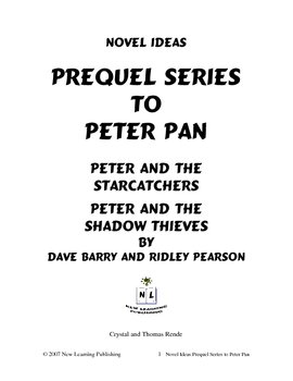 Novel Ideas: D. Barry and R. Pearson's Prequel Series to Peter Pan