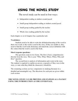 Novel Ideas: Louis Sachar's Small Steps