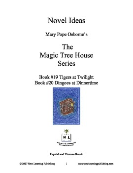 Novel Ideas: Magic Tree House #19 & #20 - Two Complete Novel Studies