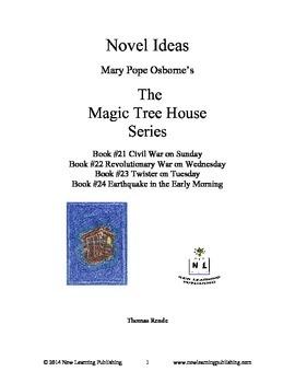 Novel Ideas: Magic Tree House #21 to #24: Four Complete Novel Studies