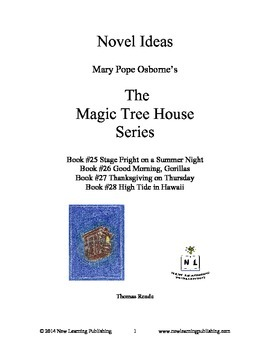 Novel Ideas: Magic Tree House #25 to #28: Four Complete Novel Studies