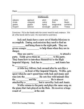 Novel Ideas: Magic Tree House #41 & #42 - Two Complete Novel Studies